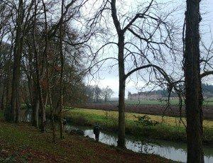 Loïck et Régis en embuscade vers la fin de la rivière et le début des canaux