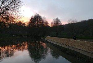 Retour de Ludovic au coucher du soleil